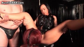 Nasty redhead slut gets horny licking