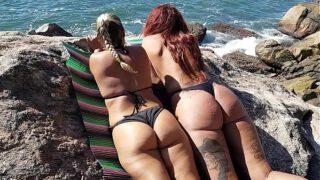 Transei com minha Sogra na Praia da enseada na frente de todo mundo !!! ( Melissa Devassa e El Toro De Oro )